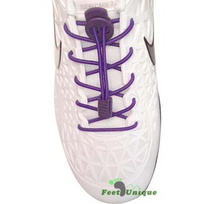 Elastic lock purple shoelaces