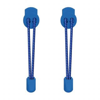 Reflective lock blue shoelaces