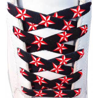 Red stars shoelaces