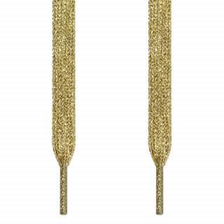 Metallic gold shoelaces