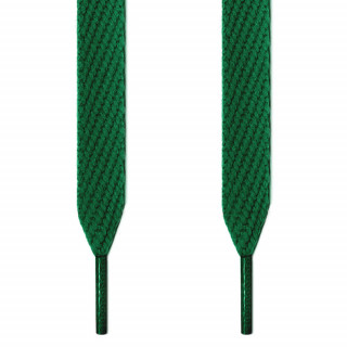 Extra wide green shoelaces