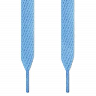 Extra wide light blue shoelaces