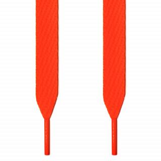 Extra wide neon orange shoelaces