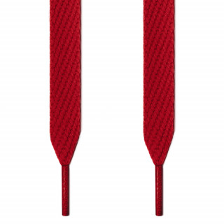Extra wide red shoelaces