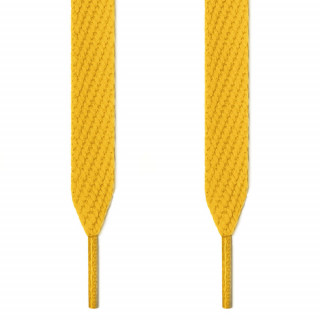 Extra wide yellow shoelaces