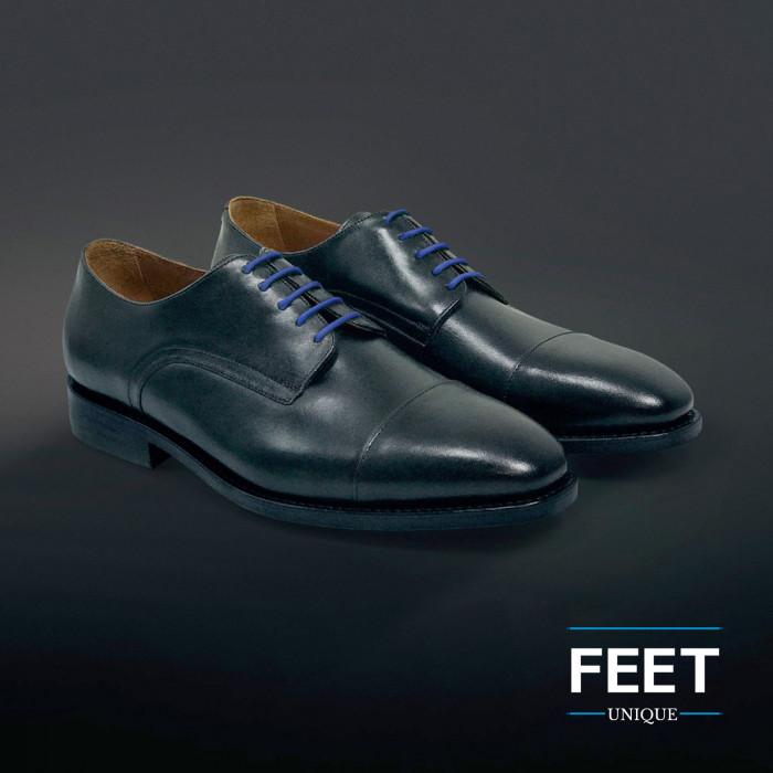 round dress blue shoelaces