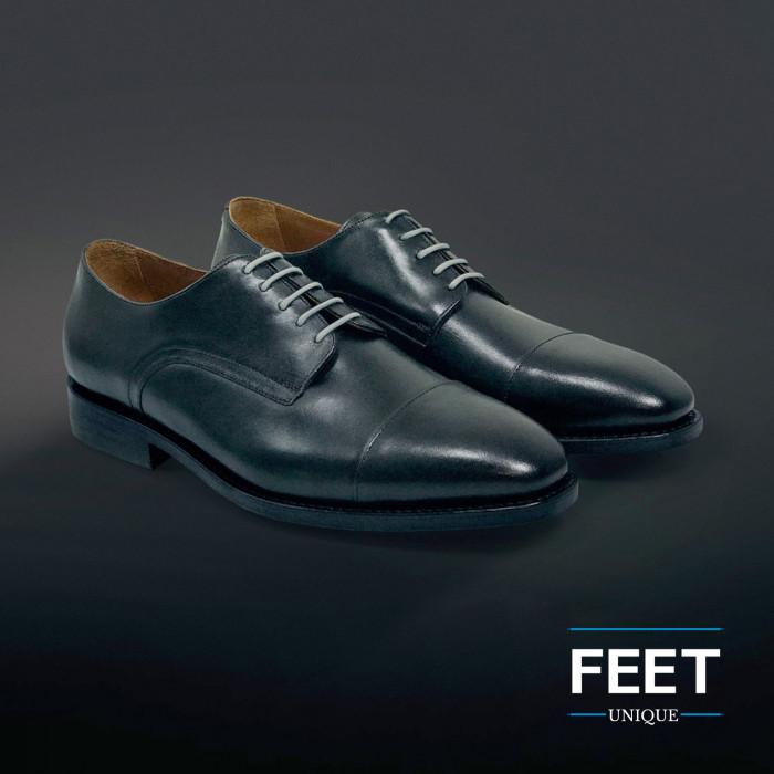 Round light grey dress shoelaces