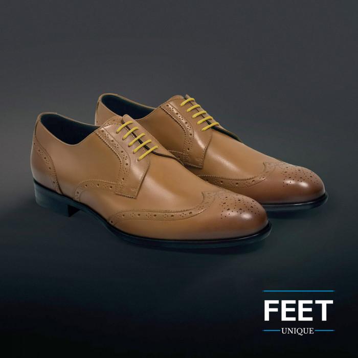 round yellow dress shoelaces