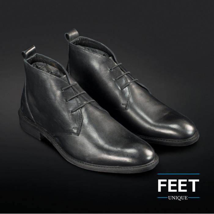 """Black """"No-Tie"""" shoelaces for dress shoes"""