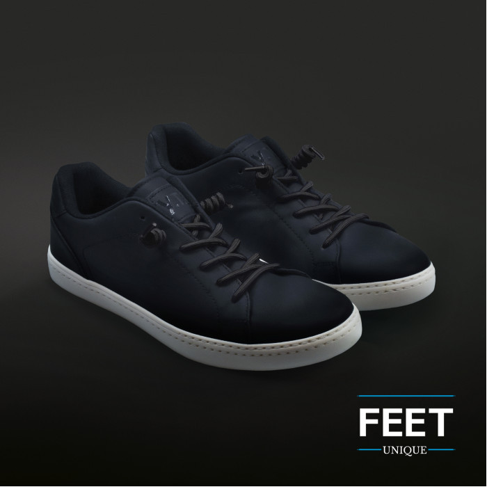 Black curly shoelaces