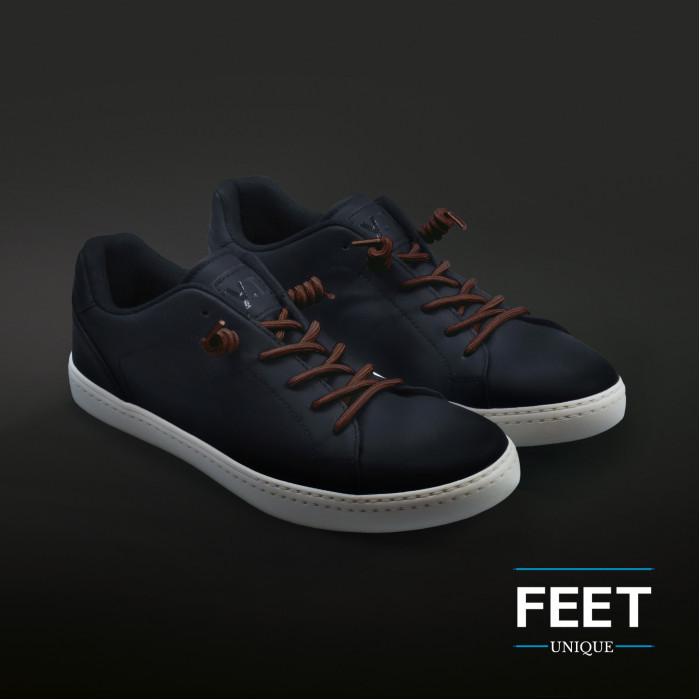 Dark brown curly shoelaces
