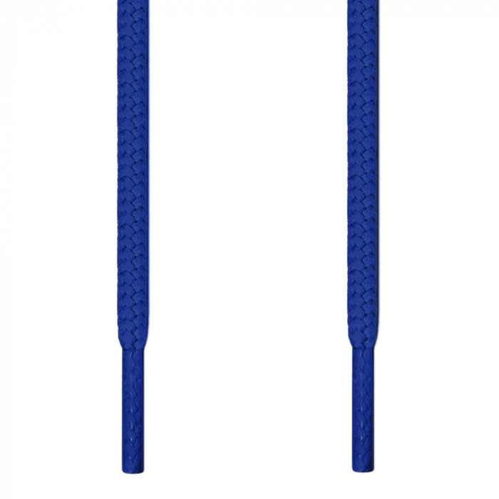 Round blue shoelaces
