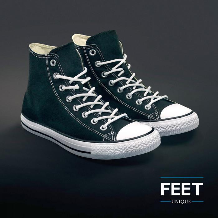 Round white shoelaces