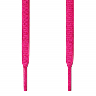 Oval hot pink shoelaces