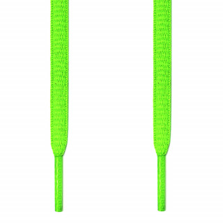 Oval neon green shoelaces