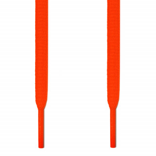Oval neon orange shoelaces