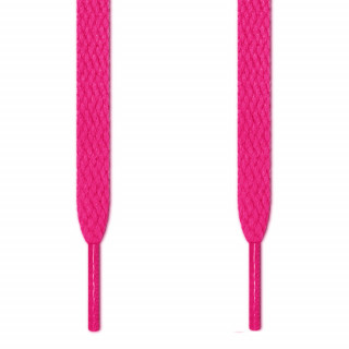 Flat hot pink shoelaces