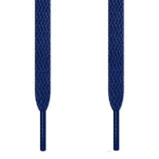 Flat navy blue shoelaces