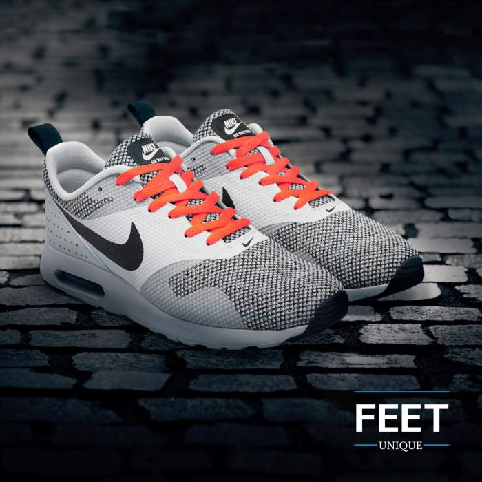 Flat neon orange shoelaces