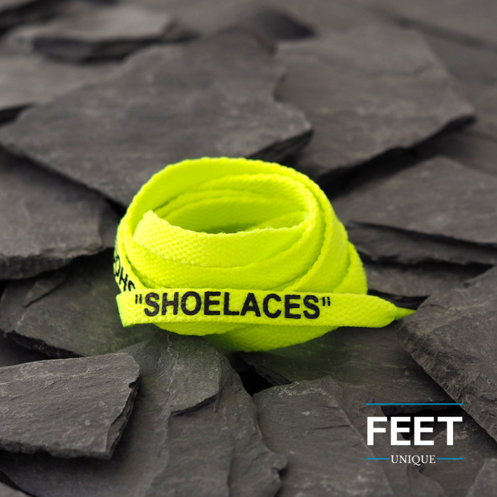 Volt Yellow OFF-WHITE Shoelaces