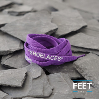 Purple OFF-WHITE Shoelaces