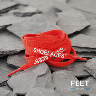 Red OFF-WHITE Shoelaces