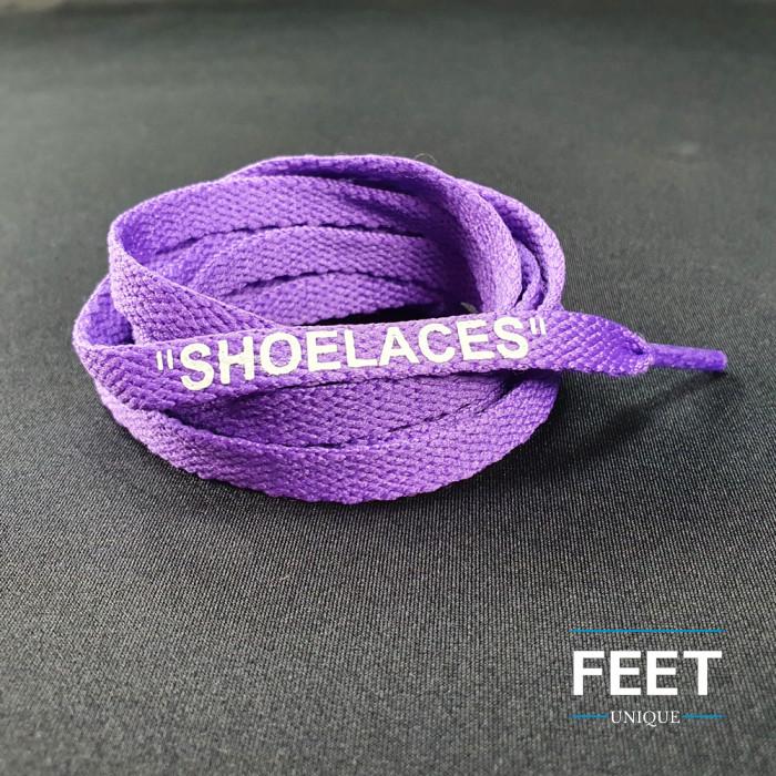 Purple OFF-WHITE Shoelaces