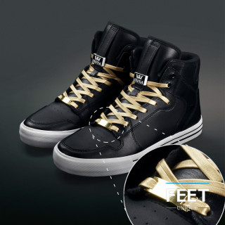 Gold shoelace charms