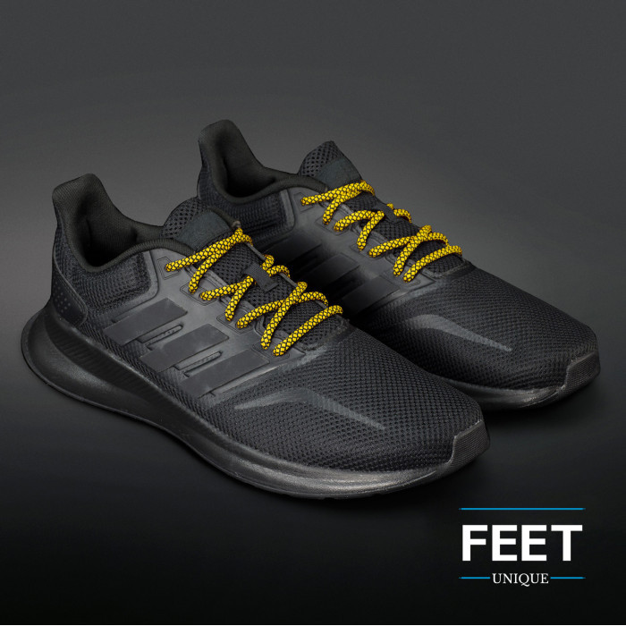 Adidas Yeezy - Rope Laces Black and Yellow