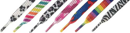 Glitter-Pattern Shoelaces